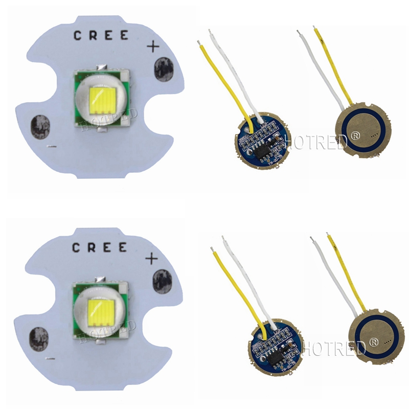 2 Sets Cree XML T6 XML-T6 LED Diode Cold White Warm White 10W LED Emitter Chip 16MM +DC3.7V 2.5A LED Driver for flashlight parts 10w led 60 degrees flood beam work light w cree xml t6 10 30v