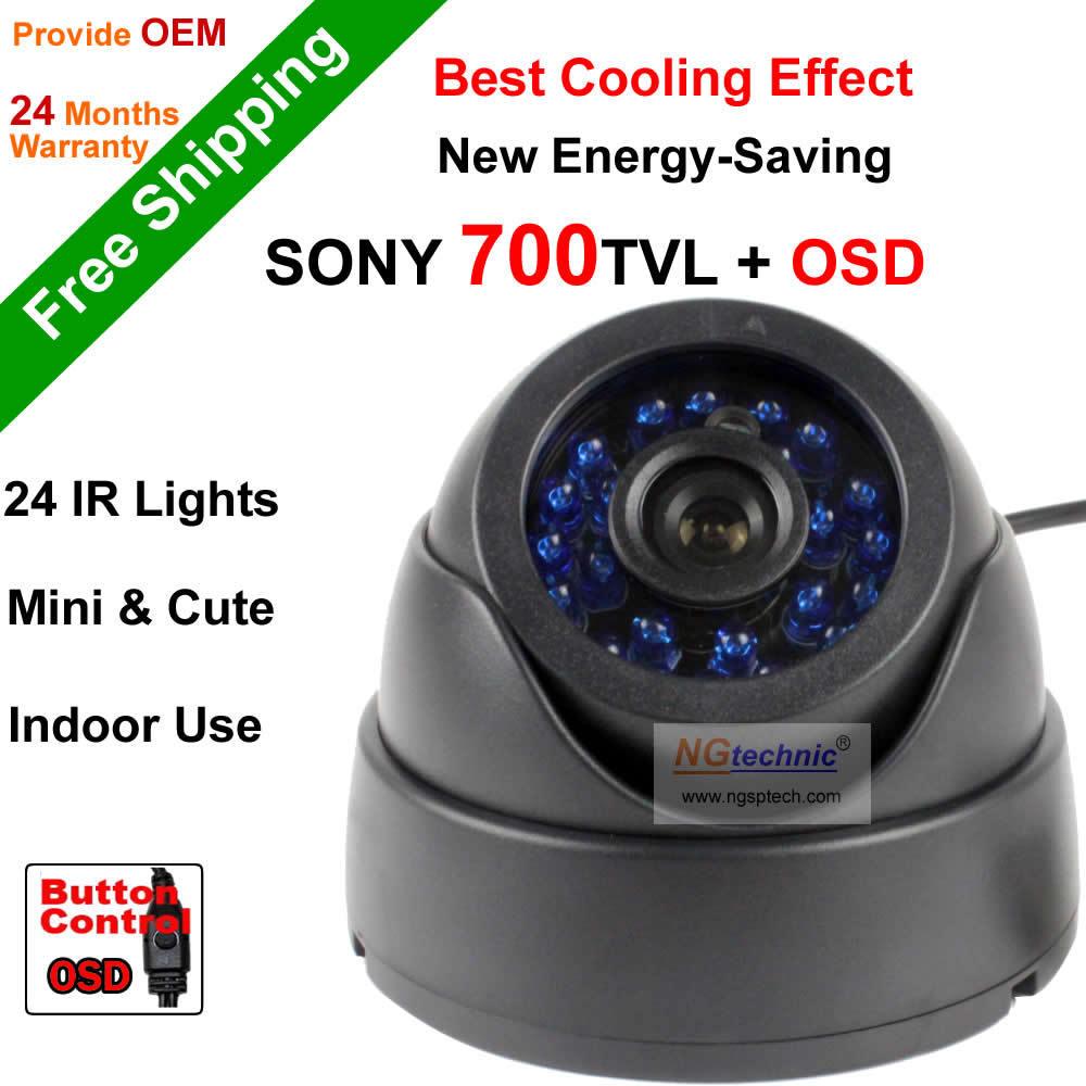 ФОТО Free Shipping NGtechnic HD Security Sony Effio-E 700tvl CCD 960H OSD menu 24 leds IR Indoor Dome surveillance CCTV Camera