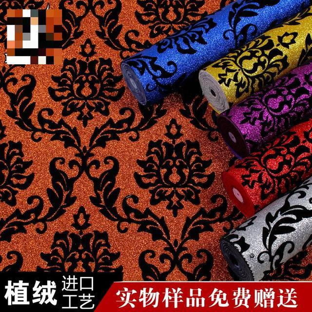 Moderne Continental 3d Wohnzimmer Tapete Hintergrund Blau Lila Gelb Rot Weiss Sparkling Glitter Tapeten Vlies Fluores