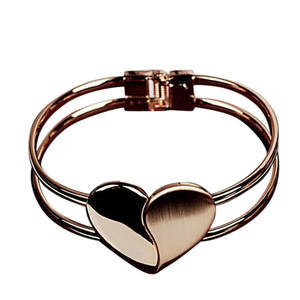 Bangle Bracelet-Cuff Wristband Jewelries New-Fashion Heart Bling Gift Fine-Pendient Elegant