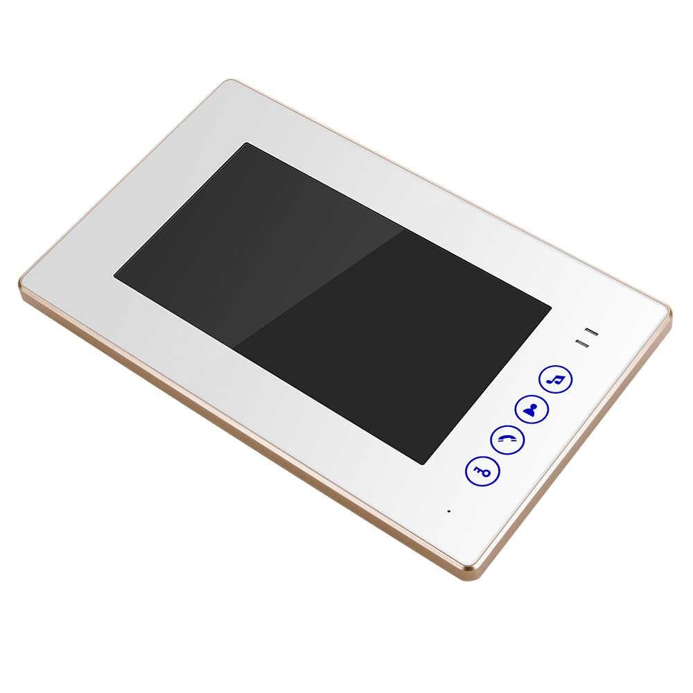 USAFEQLO 7 ''TFT lcd проводной видео телефон двери визуальный видеодомофон спикерфон домофон система с водонепроницаемой уличная камера с ИК подсветкой