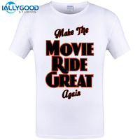 2017 On Sale Tees Homme Clothing Make The Movie Ride Great Again Summer Short Sleeve O