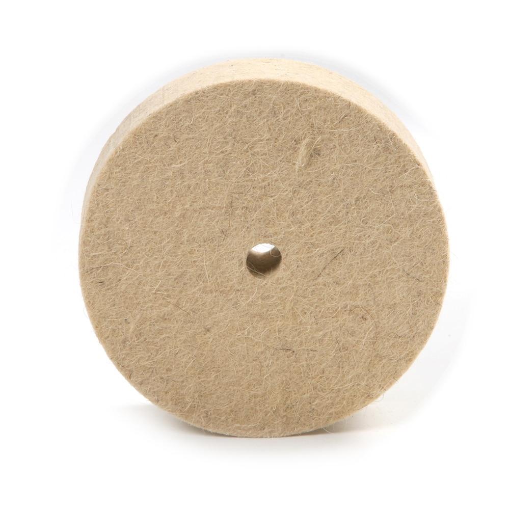 Fydun Wool Felt Wheel High-Grade Parallel Wool Wheel 1PC 100x25mm 4 Beige Polishing Buffing Grinding Round Wheel Wool Soft Felt Polisher Disc Pad Felt Wheel