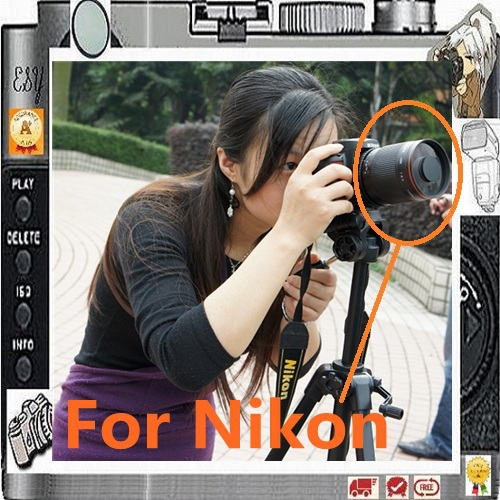 US $117 0 |Manual 500mm F8 Reflex Mirror Telephoto Lens for Nikon DSLR  Camera D5500 D5300 D5200 D3200 D3100 D3000 D7100 D7000 D90-in Camera Lens  from