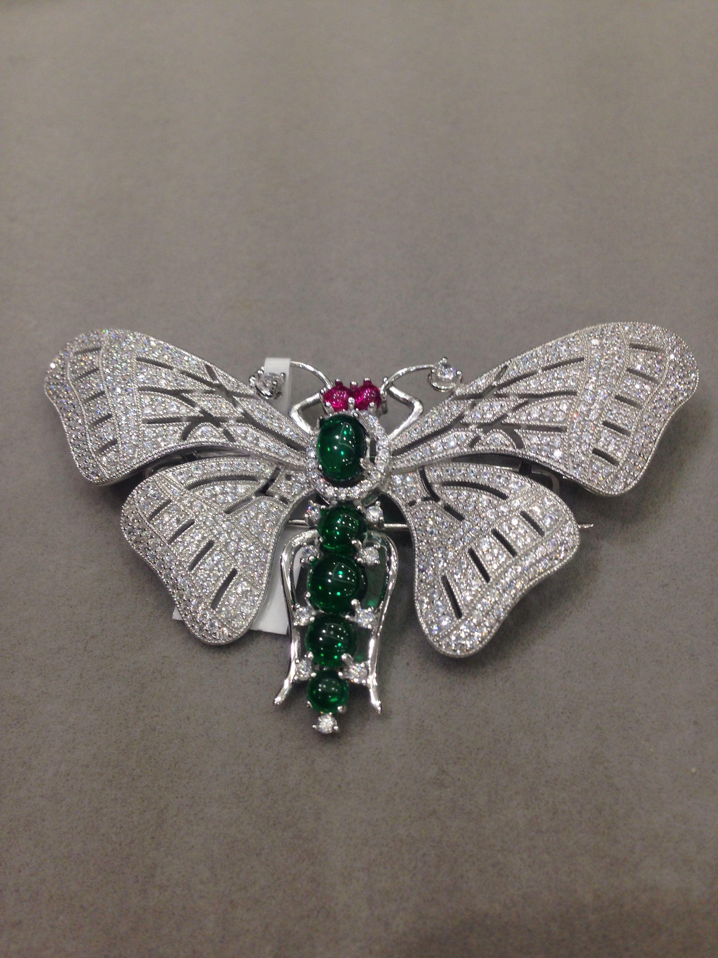 Роскошная брошь в виде бабочки из фианита 925 пробы, серебряные женские ювелирные изделия, бесплатная доставка, брошь в форме насекомого