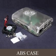 New!! Pi Box ABS balck case with Fan module for Raspberry Pi 3 & Raspberry Pi model b plus+ 3 pcs pure aluminum heat sink
