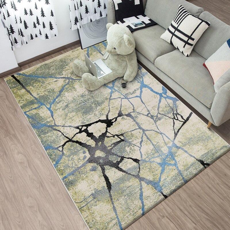 Lumière luxe nordique ins style tapis de sol rayures abstraites tissé tapis 1.6x2.3 m antidérapant salon chambre bureau tapis personnaliser
