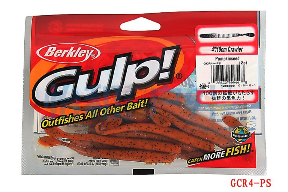"Berkley GAPSM4-OTR Gulp Orange Tiger 4/"" FW Soft Plastic Fishing Lure"
