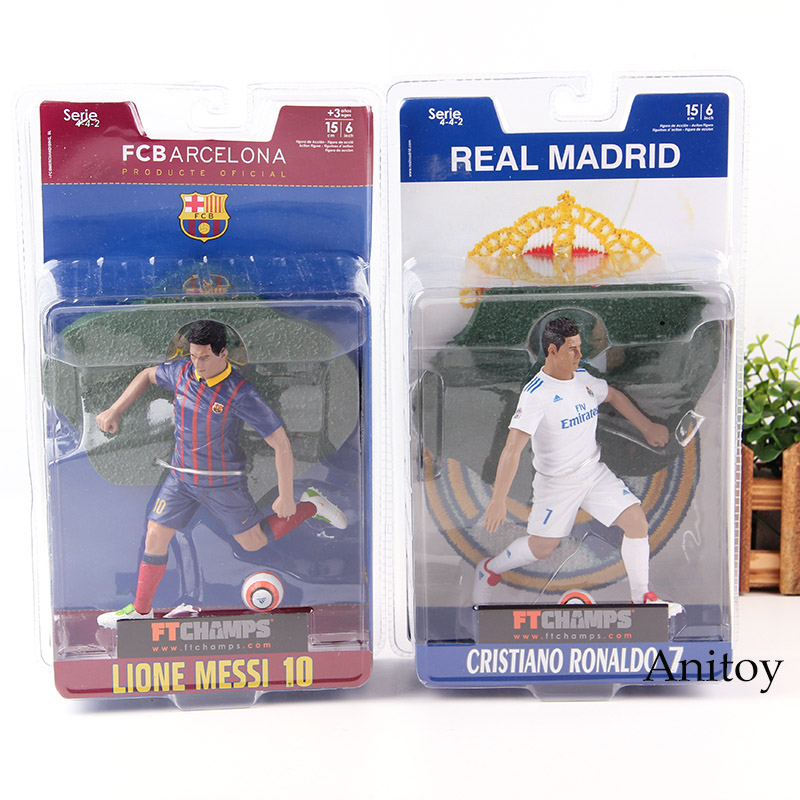 FTCHAMPS FC Barcelona Soccer Star Lionel Messi / Cristiano Ronaldo Doll PVC Football Players Action Figure Toys for Boys Gift