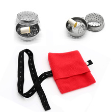 SHARE HO Moxa Box With Red Cloth Cover Therapy Chinese Moxibustion Box Heating Acupoint Massage For Body Massager Back Foot Leg bamboo moxa box roller roll holder burner moxibustion device acupoint massage box