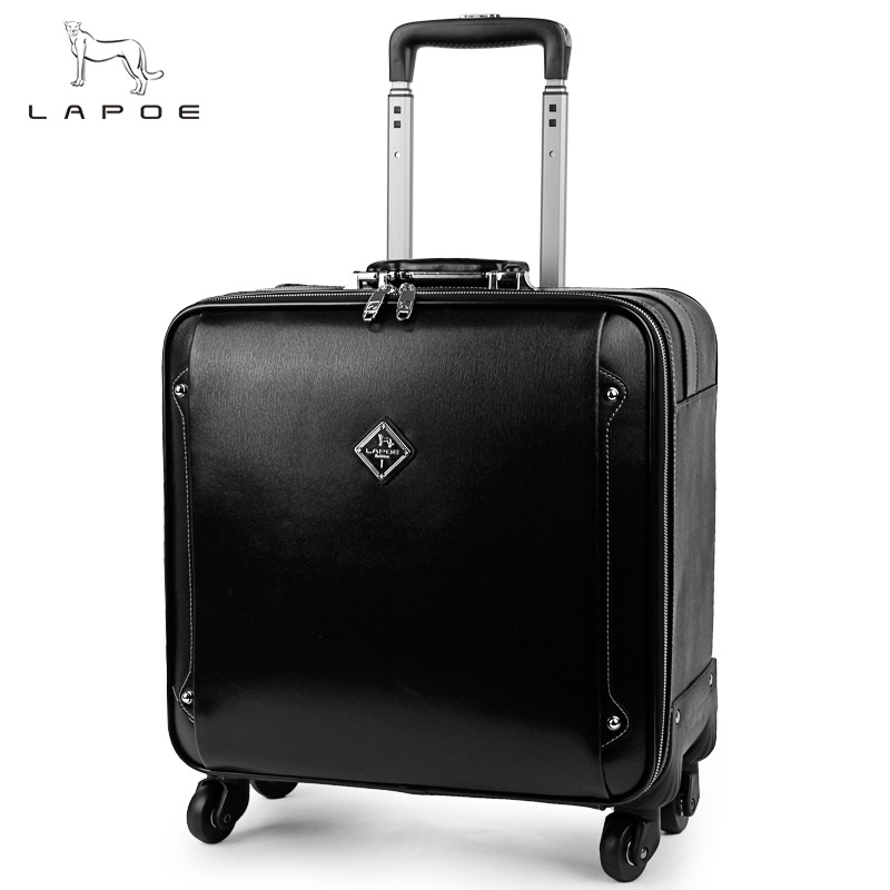 LAPOE Brand Classic business suitcase travel luggage Trunk Trolley case rolling luggage seyahat bavul valises avec roulettes viborg rbl d20a red copper rhodium plated ac 20a power receptacles wall outlet