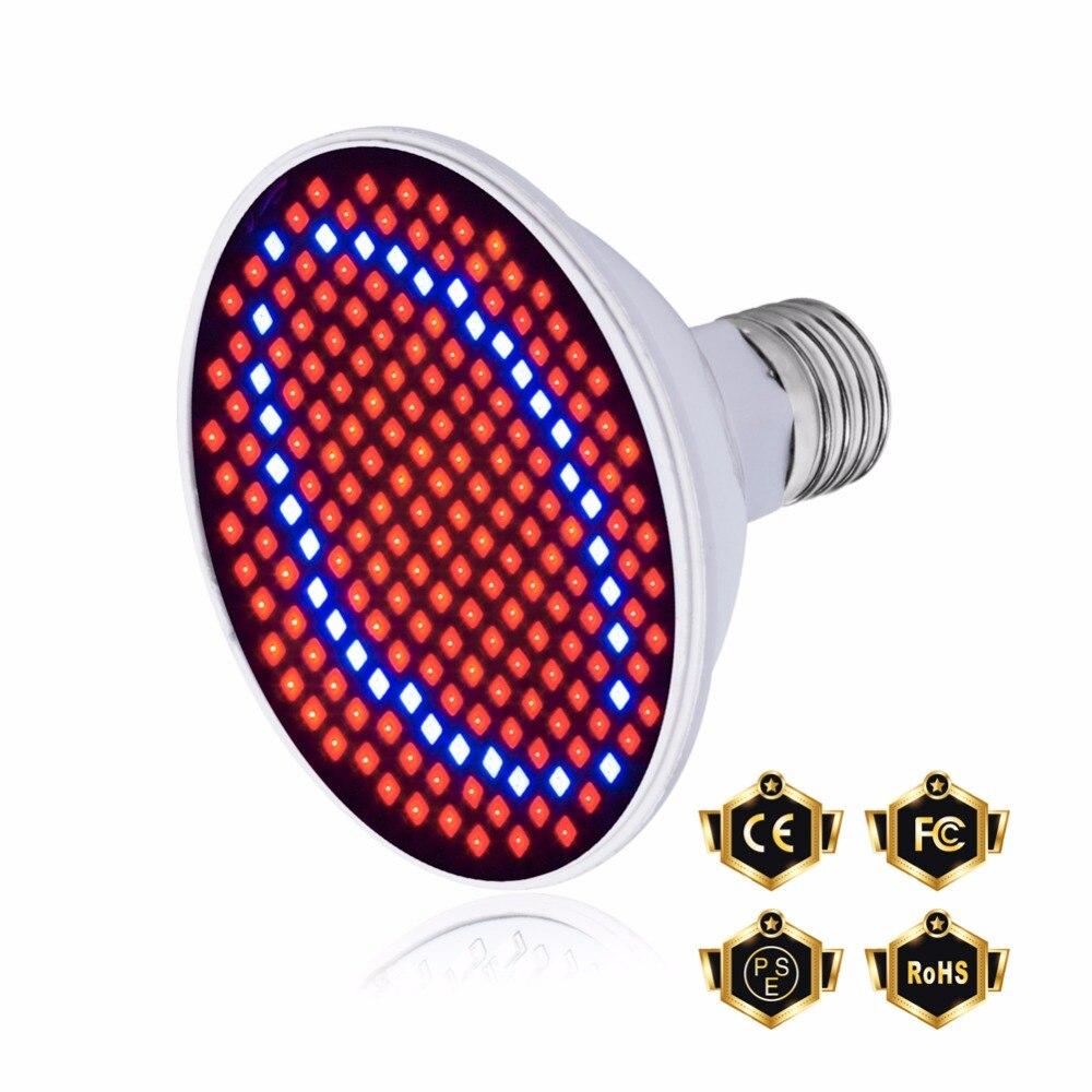 Lumières en croissance E27 plante de LED d'intérieur élèvent la lumière 220 V Phyto lampe 60 126 200 LED s lampe à spectre complet lampe hydroponique LED ampoule Fitolamp