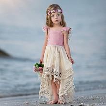 цена на 1-6T Toddler Infant Kid Baby Girl Princess Dress Elegant Summer Tutu Party Pageant tassels Dress Cute Lace Vestidos infantil