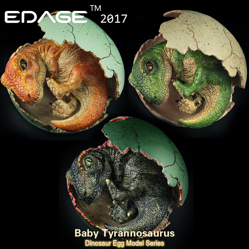 2017 Yasffen Jurassic World Dinosaur model dragon of dinosaur egg hatching Ancient biological Adult Collection toys ancient world world history