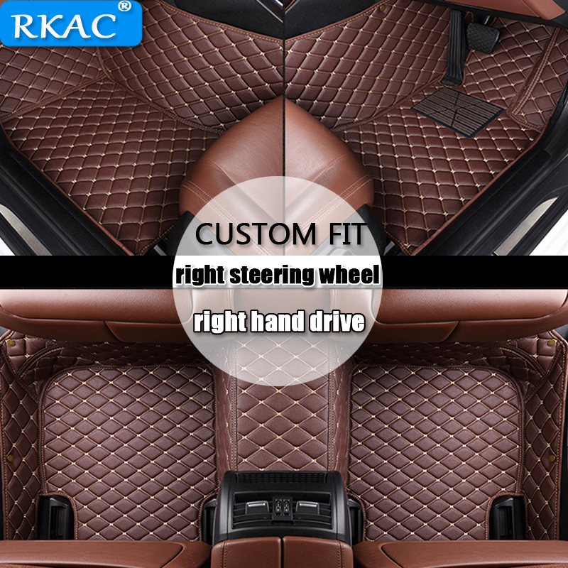 For right hand drive Custom car floor mats for Volkswagen All Models jetta touran touareg polo golf tiguan Passat xw Phaeton
