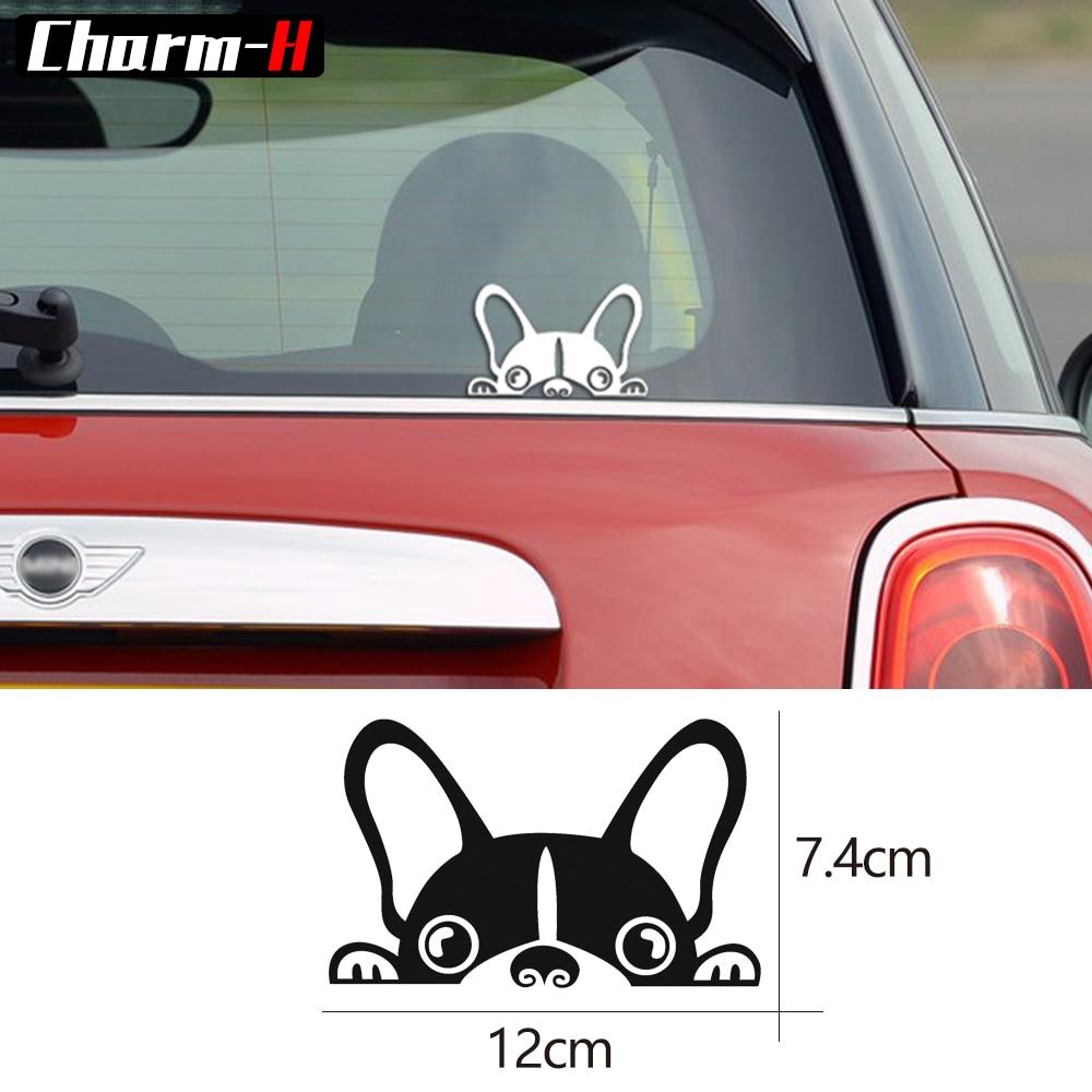 Us 5 77 45 Off Reflective Vinyl P Dog Rear Windshield Anti Scratch Trunk Per Window Decals Sticker For Mini Cooper S R50 R52 R53 R56 F55 In