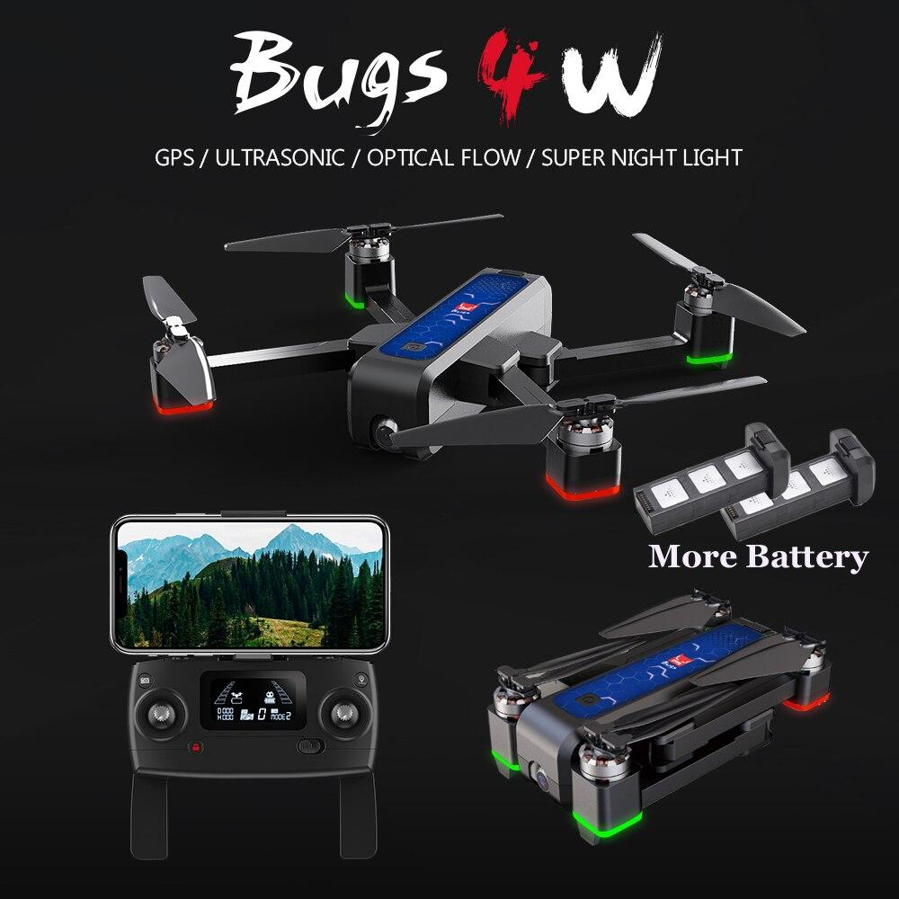 MJX Bugs 4 W B4W 5G GPS Brushless Drone con la Macchina Fotografica HD 2K WIFI FPV Anti-Shake 1.6KM 25 Minuto Flusso Ottico Pieghevole RC Quadcopter