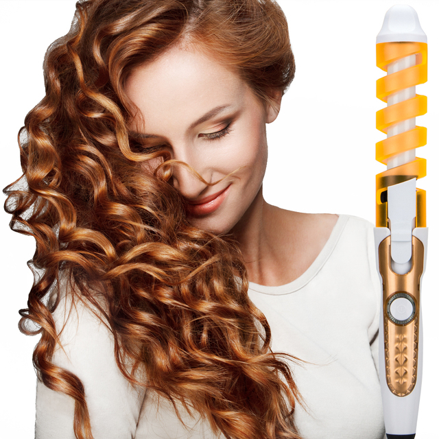 2018 Professional Hair Curler Magic Spiral Curling Iron Fast Heating Curling Wand Electric Hair Styler Pro Styling Tool