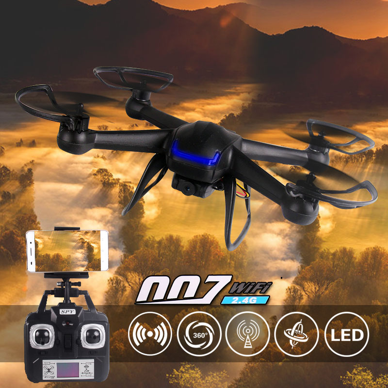 Free shipping 2.4G DM007 rc drone with HD FPV WIFI camera quadcopter helicopter Remote control toy VS SYMA X5C X5SC x5sw CX10W yc folding mini rc drone fpv wifi 500w hd camera remote control kids toys quadcopter helicopter aircraft toy kid air plane gift