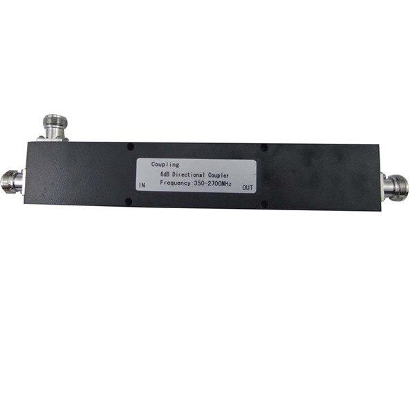 350-2700MHz 6dB directional coupler 200W average power with n female connector350-2700MHz 6dB directional coupler 200W average power with n female connector