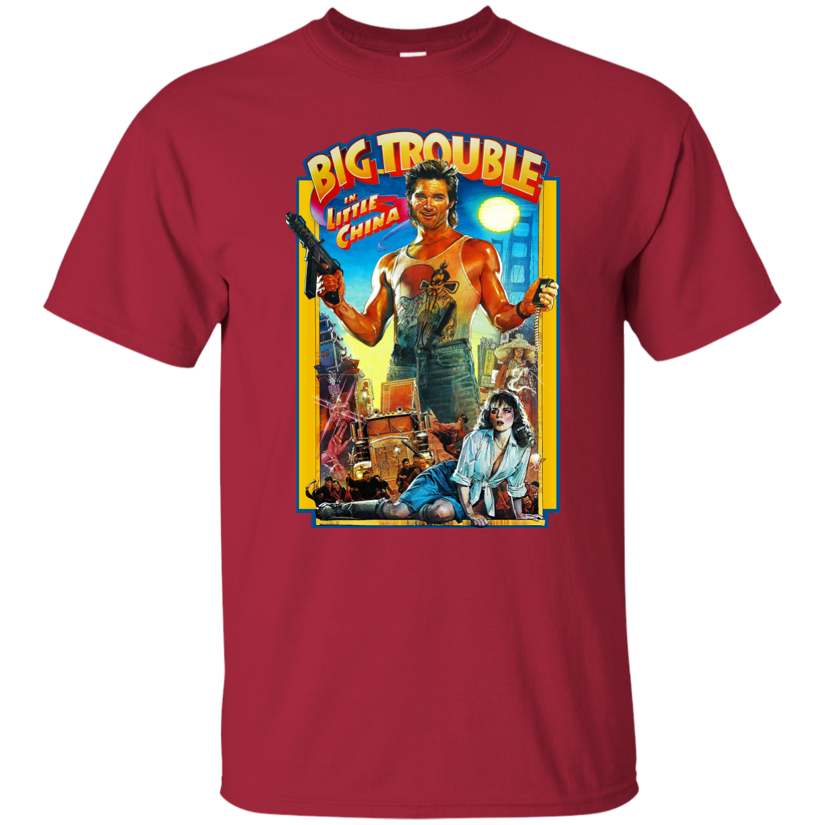 Big Trouble in Little China Kurt Russell Retro Martial Arts Kung Fu Action Harajuku Tops Fashion Classic Unique t Shirt in T Shirts from Men 39 s Clothing