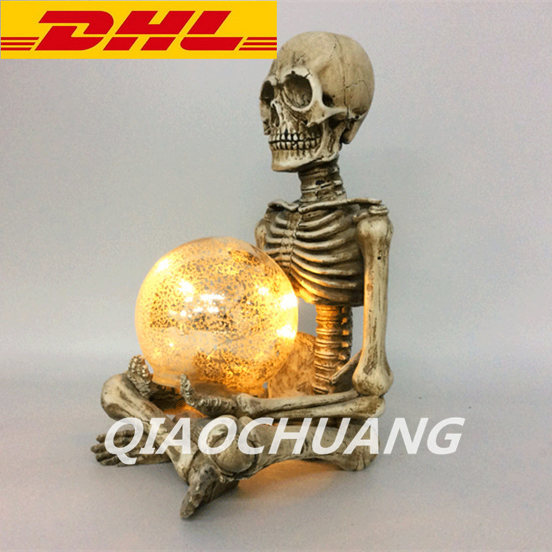 купить Jack Skellington Artware Pumpkin King Creative Ornaments Resin Halloween Town Skullcandy With LED Light Collectible Model Toy недорого