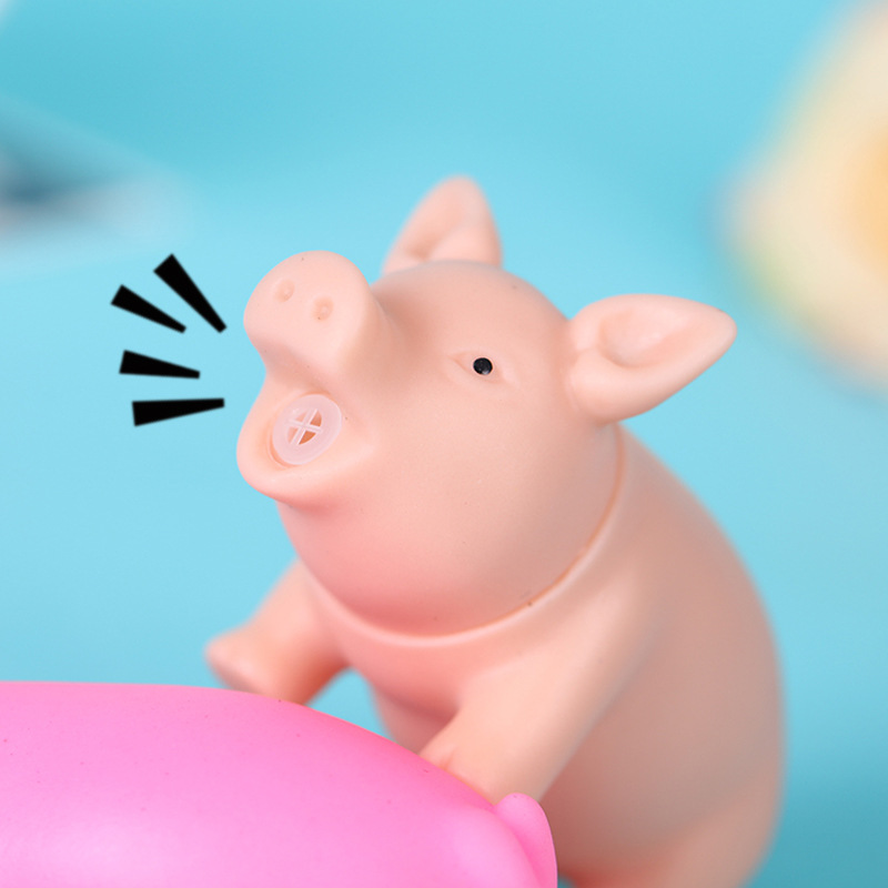 Screaming Pig Voice Sound Pig Toy Squeaky Rubber PIG Chewing Toys Product Joke Toys 8cm
