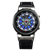 TVG Men Watches Creative Design Car Wheel Led Disply Analog Smart Watches Men Outdoor Sports Dive Watch 30M Waterproof