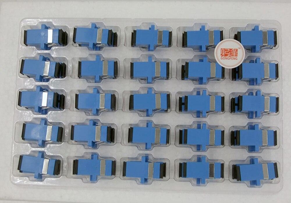 200pcs New Fiber Optic Connector Adapter SC UPC SM Flange Singlemode Simplex SC SC Coupler Special