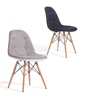 Cheap Eames Denim Linen Cloth Computer Parlor Chair Solid Wood Legs Leisure Office  Chair Ikea Minimalist