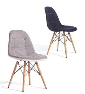 Computer Chair Ikea Smart Reviews Cheap Eames Denim Linen Cloth Parlor Solid Wood Legs Leisure Office Minimalist Style