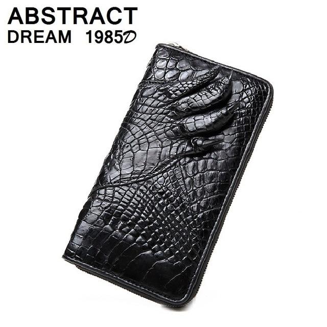 100% Natural crocodile claw men's wallet alligator skin luxury Clutch real leather men fashion purse gentleman's Classic wallet