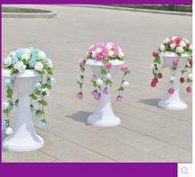 12 PCS new wedding props, European style Roman column, silk flower decorations and