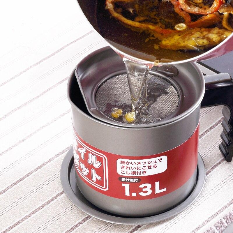 Justcook Creative japonais Tempura Pot friteuse et huile conteneur frit ensemble multi-taille ménage poêle Pot outils de cuisson - 5