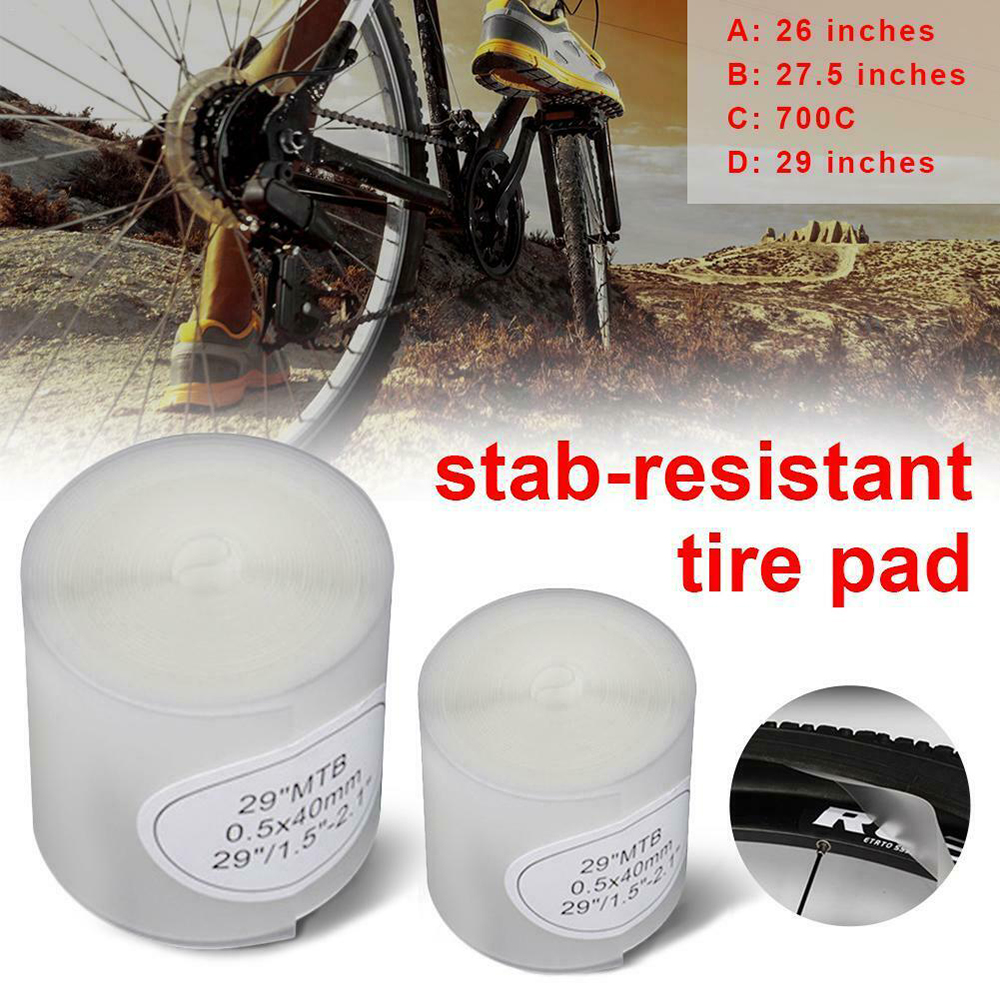 2PCS Bicycle Tire Liners Protection Bike Tires Stickers Puncture Proof Belt Tire Liner Pads Protect MTB Mountain Road Bike Tube