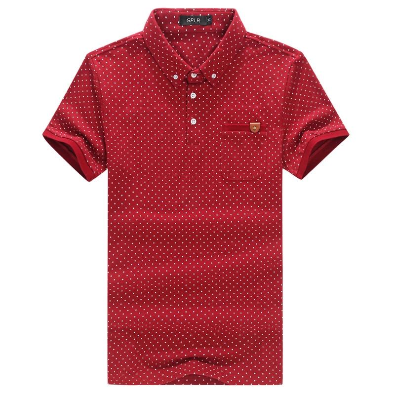 Men polo shirt new brand short sleeve polka dot polo shirts men 2016 summer casual slim