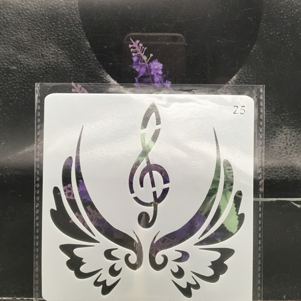 13cm Wing Music Note DIY Layering Stencils Wall Painting Scrapbook Coloring Embossing Album Decorative Card Template13cm Wing Music Note DIY Layering Stencils Wall Painting Scrapbook Coloring Embossing Album Decorative Card Template