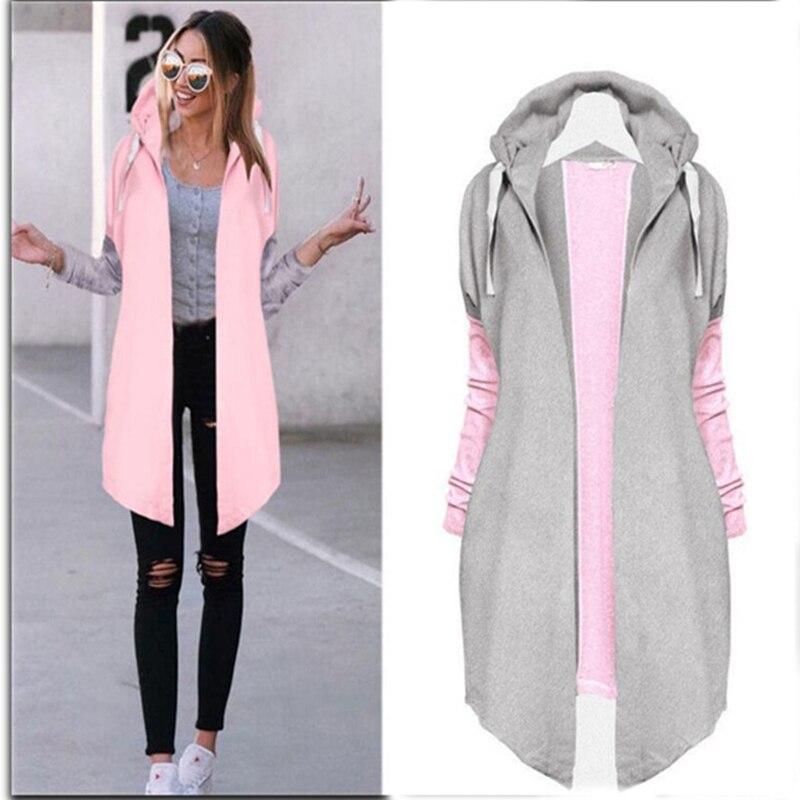 1pc New Autumn Women Fashion Clothing Patchwork Casual Long Coat Women's Jacket Long Cardigans Coat Spring Outerwear Coats
