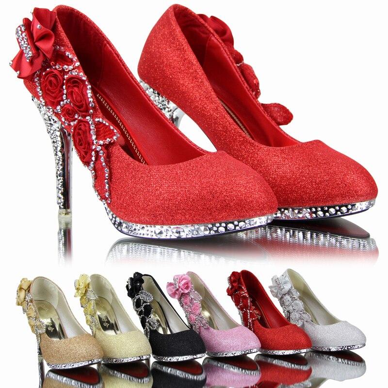 2014 Brand Women Wedding Shoes Red Bottoms Platform Wedge