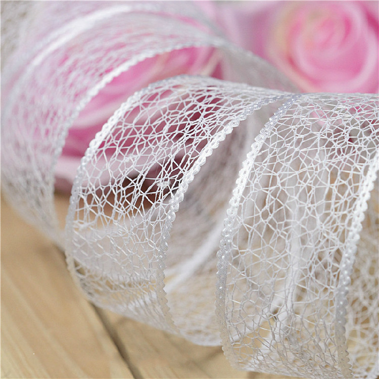 10 м/лот 4 см Чистый белый выдалбливают кружева ручной работы Одежда DIY кружевная ткань для шитья аксессуары тесьма