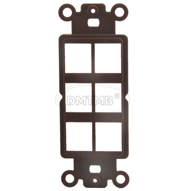 Great 6 Keystone Ports Inner Wall Plate With Brown Color