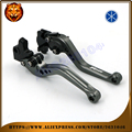Long short Adjustable Brake Clutch Levers For YAMAHA  YZF R125 YZFR125 2008 2009 2010 2011  Free shipping  Motorcycle With logo