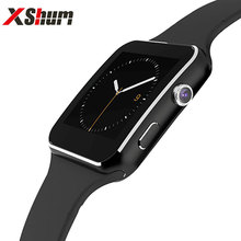 XShum Bluetooth X6 Smart Watch Men Pedometer Support SIM TF Card Fashion Wearable Device Smartwatch For Android Phone