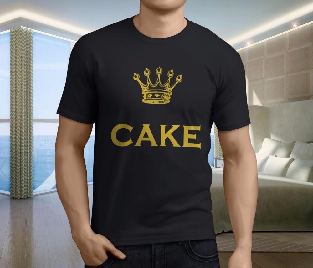 T Shirt Shop New Popular The Cake Band Mens Black T-Shirt S-3XL O-Neck Men Short Graphic T Shirts