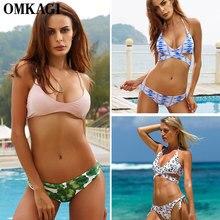 OMKAGI Hot Sale Bikini Sexy Push Up Bandage Swimsuit Swimwear Women Bikinis Set Biquini Ladies Maillot De Bain Femme Beachwear