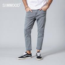 SIMWOOD 2019 Spring Summer New Jeans Men Casual Slim Fit Ankle-Length Denim Pant