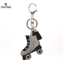 YD&YDBZ Fashion Skates Keychain Classic Lady Bag Pendant Luxury High Quality Car Key Ring Support Wholesale Gift Giving