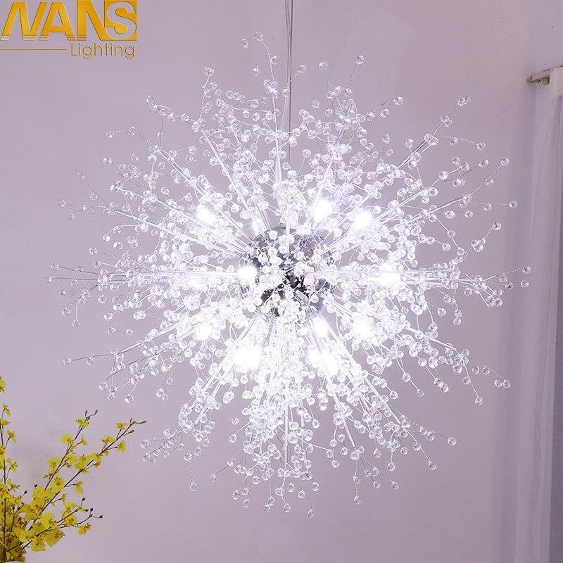 NANS Moderne LED lampe vanité cristal imitation acrylique décoration lustres Pour Salon lustres décoration De Mariage