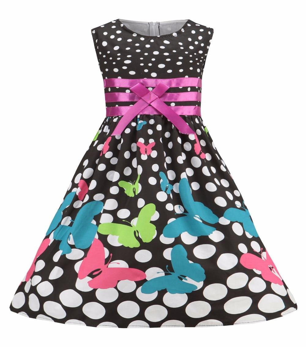 100% cotton Fashion Girls Dress Hot Pink Flower Belt Party