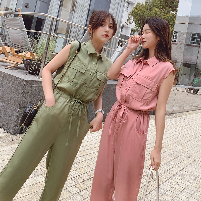 Fashion Women New Arrival Casual Comfortable Beach Sweet Jumpsuit Vintage Temperament Trend High Quality Cute Sleeveless Romper